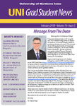 UNI Grad Student News, v16n3, February 2018 by University of Northern Iowa. Graduate College.