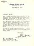 Letter from John Culver