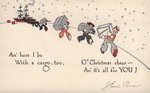 Christmas Card 1935, card inside