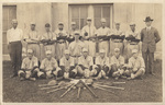 James Hearst and high school baseball team