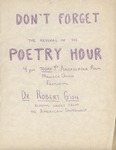 Poetry Hour poster