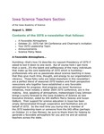 ISTS E-Newsletter, August 1, 2004 by Iowa Academy of Science