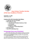 ISTS E-Newsletter, September 15, 2006