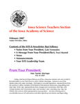 ISTS E-Newsletter, February, 2007 by Iowa Academy of Science