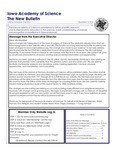 Iowa Academy of Science: The New Bulletin, v10n3, Fall 2014