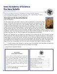 Iowa Academy of Science: The New Bulletin, v10n1, Winter 2013