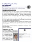Iowa Academy of Science: The New Bulletin, v8n3, Fall 2012