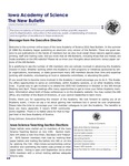 Iowa Academy of Science: The New Bulletin, v8n2, Summer 2012