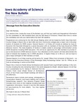 Iowa Academy of Science: The New Bulletin, V8n1, Spring 2012