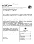 Iowa Academy of Science: The New Bulletin, V7n1, Spring 2011