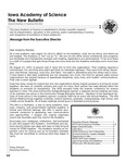 Iowa Academy of Science: The New Bulletin, V6n2-3, Summer-Fall 2010