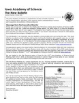 Iowa Academy of Science: The New Bulletin, V5n4, Winter 2009