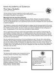 Iowa Academy of Science: The New Bulletin, V5n1, Spring 2009