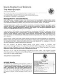 Iowa Academy of Science: The New Bulletin, V4n4, Winter 2008