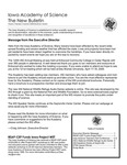 Iowa Academy of Science: The New Bulletin, V4n2, Summer 2008
