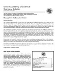 Iowa Academy of Science: The New Bulletin, V4n1, Spring 2008