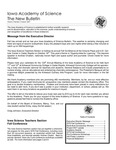 Iowa Academy of Science: The New Bulletin, V3n3, Autumn 2007
