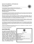 Iowa Academy of Science: The New Bulletin, V3n2, Spring 2007