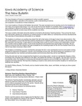 Iowa Academy of Science: The New Bulletin, V2n4, Autumn 2006