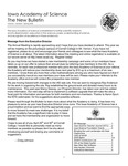 Iowa Academy of Science: The New Bulletin, V1n1, Spring 2005