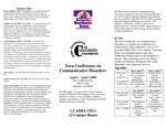 Iowa Conference on Communicative Disorders [Program, 2009]