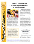 District Support for School Improvement: A Report Summary