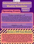 International Engagement Weekly Newsletter, October 1, 2021