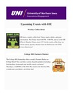International Engagement Weekly Newsletter, October 15, 2021 by University of Northern Iowa. Office of International Engagement.