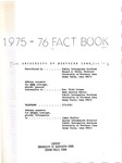 University of Northern Iowa Fact Book, 1975-1976 by University of Northern Iowa