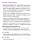 ISSO Weekly Newsletter, January 16, 2015 by University of Northern Iowa.  International Students and Scholars Office.