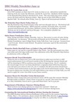 ISSO Weekly Newsletter, June 12, 2014 by University of Northern Iowa.  International Students and Scholars Office.