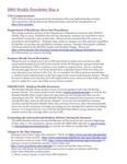 ISSO Weekly Newsletter, May 9, 2014