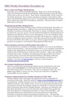ISSO Weekly Newsletter, November 22, 2013 by University of Northern Iowa.  International Students and Scholars Office.