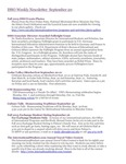 ISSO Weekly Newsletter, September 20, 2013