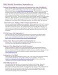 ISSO Weekly Newsletter, September 13, 2013