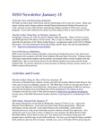 ISSO Newsletter, January 15, 2016 by University of Northern Iowa. International Students and Scholars Office.