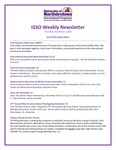 ISSO Weekly Newsletter, November 1, 2018