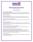 ISSO Weekly Newsletter, November 8, 2018 by University of Northern Iowa. International Students and Scholars Office.