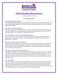 ISSO Weekly Newsletter, November 15, 2018 by University of Northern Iowa. International Students and Scholars Office.