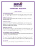 ISSO Weekly Newsletter, November 29, 2018 by University of Northern Iowa. International Students and Scholars Office.