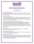 ISSO Weekly Newsletter, January 18, 2019 by University of Northern Iowa. International Students and Scholars Office.