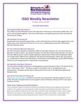 ISSO Weekly Newsletter, January 24, 2019 by University of Northern Iowa. International Students and Scholars Office.