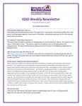ISSO Weekly Newsletter, January 31, 2019