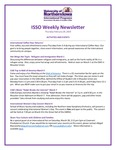 ISSO Weekly Newsletter, February 28, 2019