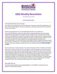 ISSO Weekly Newsletter, March 28, 2019 by University of Northern Iowa. International Students and Scholars Office.