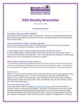ISSO Weekly Newsletter, April 5, 2019
