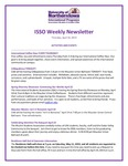 ISSO Weekly Newsletter, April 18, 2019