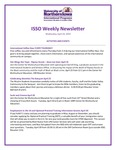 ISSO Weekly Newsletter, April 24, 2019