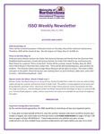 ISSO Weekly Newsletter, May 15, 2019