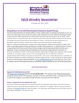 ISSO Weekly Newsletter, June 27, 2019